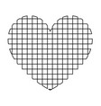 heart with square icon vector image