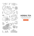 herbal tea landing pages template healthy organic vector image vector image