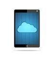 Hex cloud tablet vector image vector image