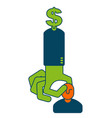 investor icon dollar man sign boss of money vector image
