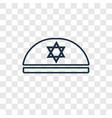 kippah concept linear icon isolated on vector image