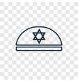 kippah concept linear icon isolated on vector image