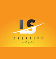 ls l s letter modern logo design with yellow vector image vector image