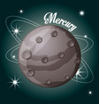 mercury planet in the solar system creation vector image vector image