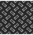 Metal Razor Blade Seamless Pattern vector image
