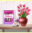 mothers day colored composition vector image vector image