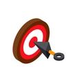 Ninja weapon kunai throwing knife with target vector image vector image