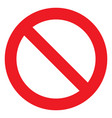no sign ban icon stop symbol red circle vector image