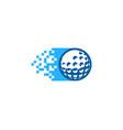 pixel golf logo icon design vector image vector image