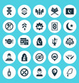 ramadan icons set collection of malay travel vector image vector image