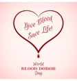 Red Heart with Blood Drop with Inscription vector image vector image