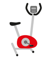 red stationary bicycle vector image vector image