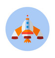 rocket flat icon rocket icon e vector image vector image