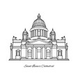 saint isaacs cathedral of saint petersburg vector image vector image