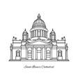 saint isaacs cathedral saint petersburg vector image vector image