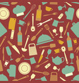 seamless pattern with kitchen items vector image vector image