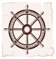 Ship wheel retro resize vector image