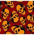 skull in earphones vector image vector image