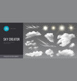 sky creator realistic set clouds and sun vector image vector image