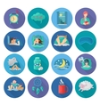 Sleep Time Icons vector image