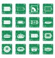 sport stadium icons set grunge vector image vector image