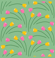 spring colorful tulips fans pattern vector image vector image