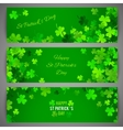 St Patricks Day banner set vector image