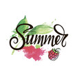 summer inscription on a bright background vector image vector image
