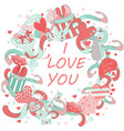 the concept of the romantic symbols and signs vector image