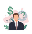 the man thinking better business decision vector image vector image