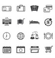 tourist travel icons set vector image