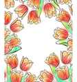 Tulips frame design template