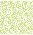 white green pattern with abstract flower vector image vector image