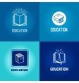 education logo set vector image