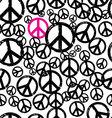seamless hippie background vector image