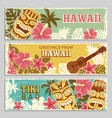 horizontal banners set with of vector image
