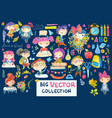 welcome back to school cute watercolor school kids vector image