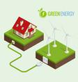 alternative green energy or green house concept vector image