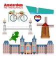 Amsterdam Netherlands Travel Doodle vector image