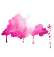 abstract pink hand painted watercolor texture vector image vector image