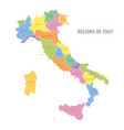 administrative color map italy vector image vector image
