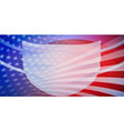 american flag with a medical mask vector image