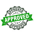 approved stamp sign seal vector image