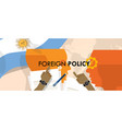 argentina us foreign policy diplomacy vector image