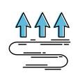 arrows up temperature icon vector image
