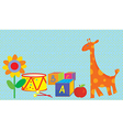Baby background with toys vector image vector image