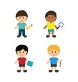 back to school icon set design vector image vector image
