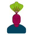 beet manager office vegetable business idea vector image