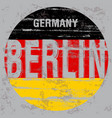 berlin tee poster graphic design vector image