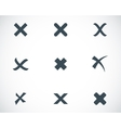 black rejected icons set vector image vector image